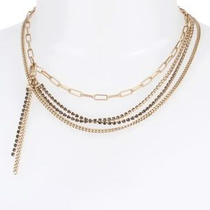 All Saints Multistrand Necklace layered delicate